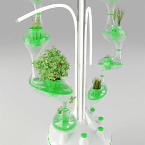 近未来のスタイリッシュな都市型水耕栽培は忙しい人にピッタリ