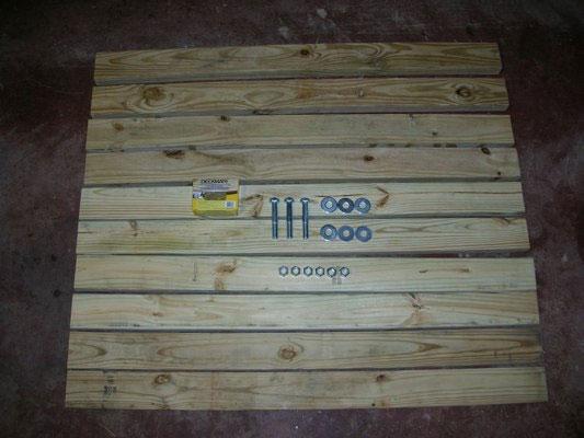 木挽台の作り方必要部材