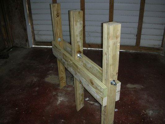 木挽台の作り方折り畳み