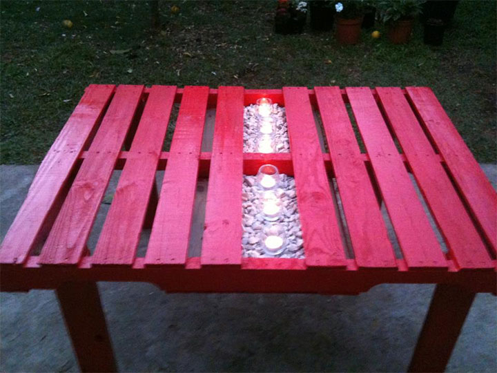 パレットテーブルDIY1