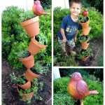 植木鉢と棒だけで簡単に立体的なガーデニングをDIYするアイデア
