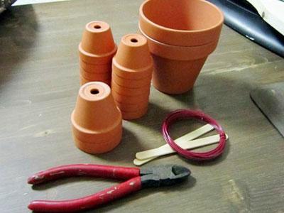 素焼き鉢人形DIY準備