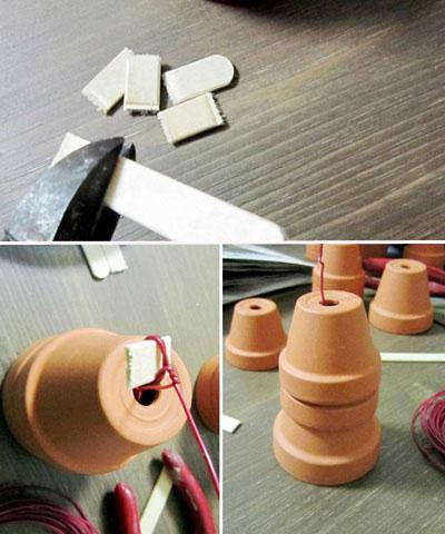 素焼き鉢人形DIY各部