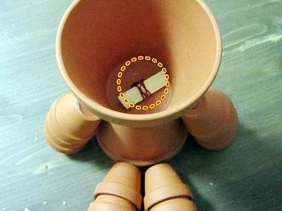 素焼き鉢人形DIY頭