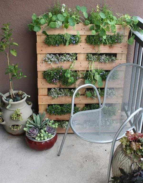 リビングウォールの垂直ガーデンパレット1