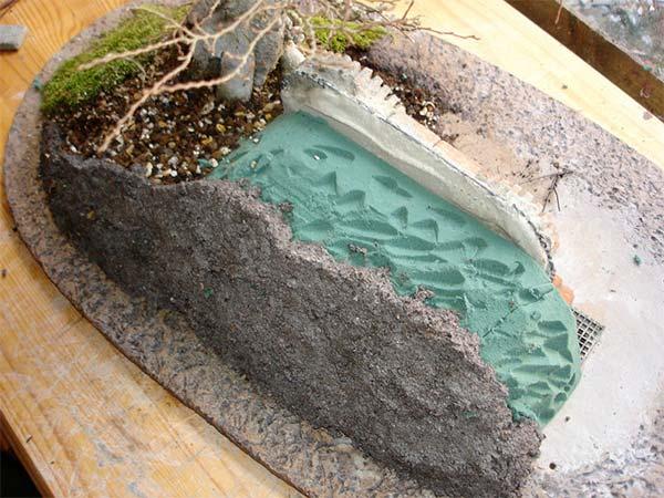 盆栽とエルフの融合土台作り