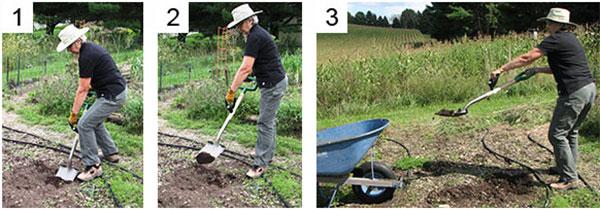 女性のための農機具Dグリップ使い方