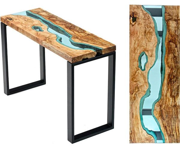 川が流れるテーブル全体画像
